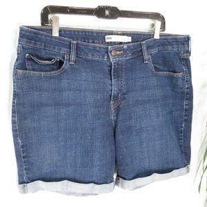 Levi's Plus Size Stretch  Cuffed Shorts NWOT